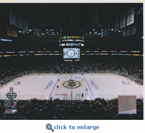 2011 NHL Stanley Cup Face Off 8x10 photo - Boston Bruins
