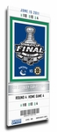 2011 NHL Stanley Cup Final Commemorative Canvas Mega Ticket - Vancouver Canucks
