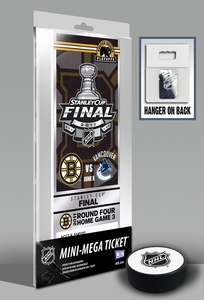 2011 NHL Stanley Cup Final Commemorative Mini-Mega Ticket - Boston Bruins