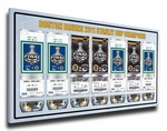2011 NHL Stanley Cup Champions Commemorative Tickets To History Canvas Print - Boston Bruins
