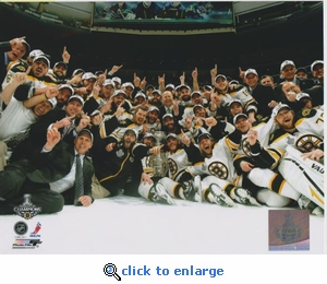 2011 NHL Stanley Cup Team 8x10 photo- Boston Bruins