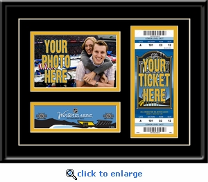 2011 NHL Winter Classic 4x6 Photo Ticket Frame - Capitals vs Penguins