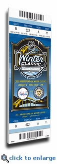 2011 NHL Winter Classic Canvas Mega Ticket - Capitals vs Penguins