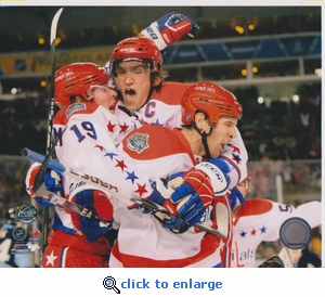 2011 NHL Winter Classic Team Celebration 8x10 photo - Washington Capitals