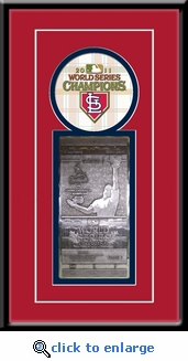 2011 World Series Commemorative Hand Forged Metal Ticket Framed - St Louis Cardinals