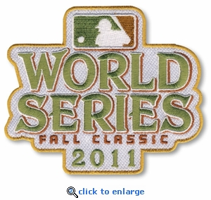 2011 World Series Embroidered Patch - St Louis Cardinals vs Texas Rangers