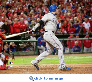 2011 World Series Game 2 Josh Hamilton 8x10 Photo - Texas Rangers