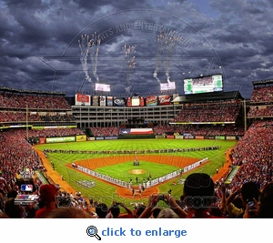 2011 World Series Game 3 Opening Ceremony 8x10 Photo - Texas Rangers