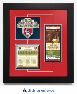 2011 World Series Replica Ticket & Patch Frame - St Louis Cardinals