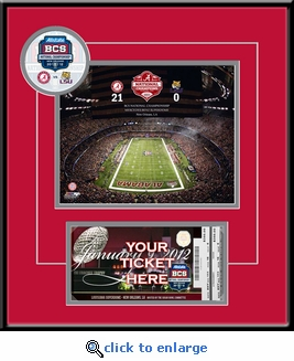 2012 BCS Championship Game 8x10 Photo Ticket Frame - Alabama Crimson Tide