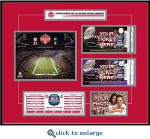 2012 BCS Championship Game Double Ticket Frame - Alabama Crimson Tide