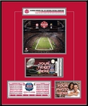 2012 BCS Championship Game Ticket Frame - Alabama Crimson Tide