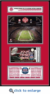 2012 BCS Championship Game Ticket Frame Jr - Alabama Crimson Tide