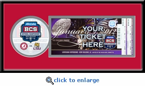 2012 BCS Championship Single Ticket Frame - LSU vs Alabama