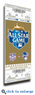 2012 MLB All-Star Game Canvas Mega Ticket - Royals Host - MVP Melky Cabrera