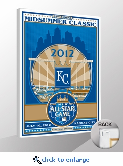 2012 MLB All-Star Game Sports Propaganda Canvas Print - Kansas City Royals