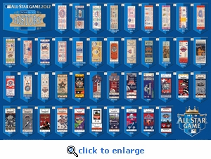 2012 MLB All-Star Game Tickets to History Poster - Royals