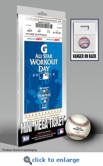 2012 MLB Home Run Derby Mini- Mega Ticket, Royals Host - Prince Fielder, Tigers