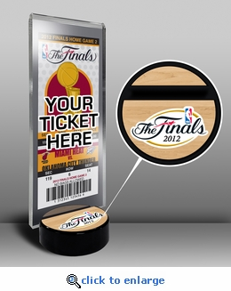 2012 NBA Finals Ticket Display Stand - Heat vs Thunder