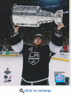 2012 NHL Stanley Cup Jonathan Quick 8x10 photo - Los Angeles Kings