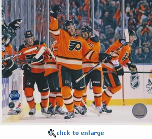 2012 NHL Winter Classic Flyers 8x10 photo - Philadelphia Flyers
