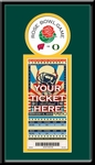 2012 Rose Bowl Single Ticket Frame - Wisconsin vs Oregon