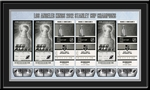 2012 NHL Stanley Cup Champions Tickets to History Framed Print - Los Angeles Kings Champions