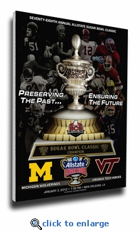 2012 Sugar Bowl Program Cover on Canvas - Michigan Wolverines
