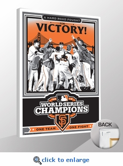 2012 World Series Champions Sports Propaganda Canvas Print - San Francisco Giants