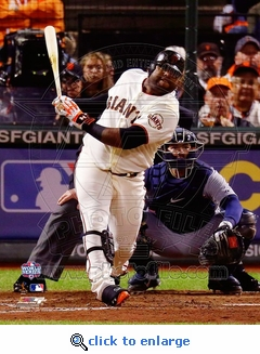 2012 World Series Game 1 MVP Sandoval 3rd Home Run 8x10 Photo