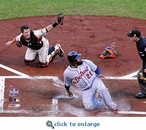 2012 World Series Game 2 Posey Tag Out 8x10 Photo
