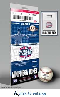 2012 World Series Mini-Mega Ticket - San Francisco Giants