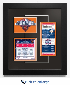 2012 World Series Replica Ticket & Patch Frame - San Francisco Giants