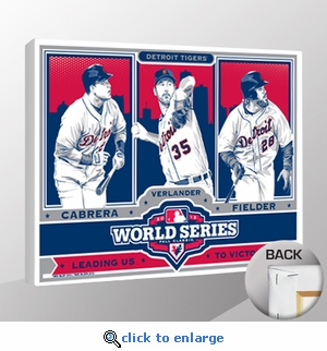 2012 World Series Sports Propaganda Canvas Print - Detroit Tigers