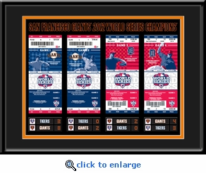 2012 World Series Tickets to History Framed Print - San Francisco Giants