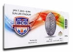 2013 BCS National Championship Game Canvas Mega Ticket - Alabama Crimson Tide