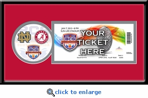 2013 BCS Championship Single Ticket Frame - Alabama