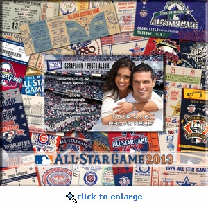 2013 MLB All-Star Game 8 x 8 Scrapbook - Ticket & Photo Album - Mets