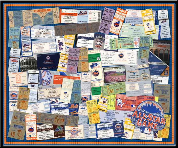 2013 MLB All-Star Game Mets Tickets to Every Season Framed Print