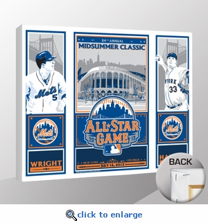 2013 MLB All-Star Game Wright & Harvey Sports Propaganda Canvas Print - Mets