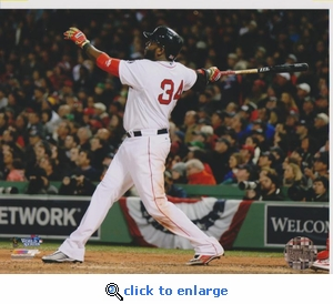 2013 MLB World Series David Ortiz 8x10 Photo - Boston Red Sox