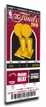 2013 NBA Finals�Canvas Commemorative Mega Ticket - Miami Heat