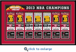 2013 NBA Finals Tickets to History Framed Print - Miami Heat