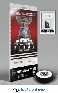 2013 NHL Stanley Cup Final Mini-Mega Ticket - Chicago Blackhawks