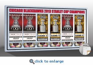 2013 NHL Stanley Cup Champions Tickets to History Canvas Print - Chicago Blackhawks