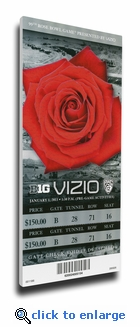 2013 Rose Bowl Canvas Mega Ticket - Stanford Cardinals
