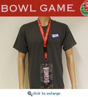 2013 Rose Bowl Game Lanyard, Ticket Holder and I Was There Pin - Michigan State v Stanford