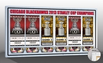 2013 NHL Stanley Cup Final Tickets to History Canvas Print - Chicago Blackhawks