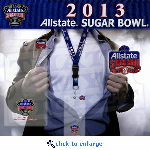 2013 Sugar Bowl Lanyard, Ticket Holder and I Was There Pin - Louisville Cardinals
