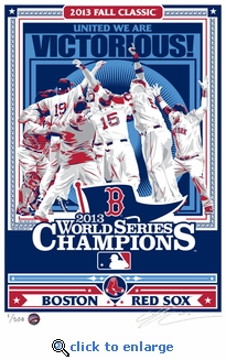 2013 World Series Champions Sports Propaganda Handmade LE Serigraph - Red Sox